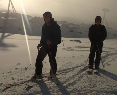 E350 team cross country skiing