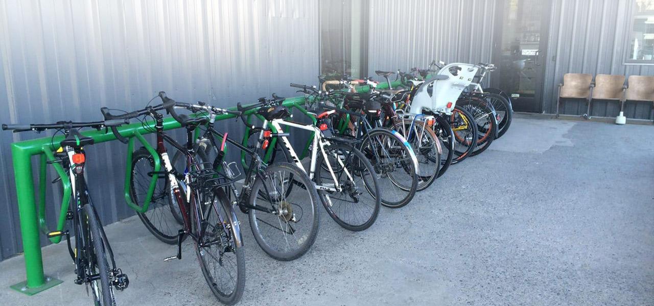 We bike to work